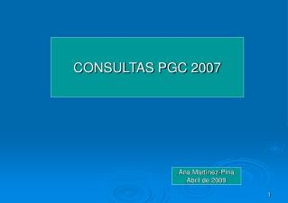 CONSULTAS PGC 2007