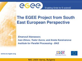 The EGEE Project from South East European Perspective