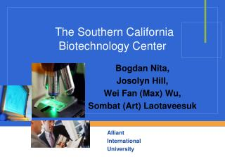 The Southern California Biotechnology Center