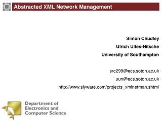 Abstracted XML Network Management