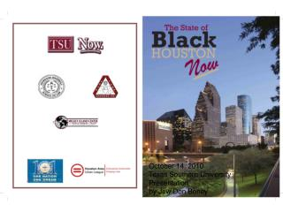 October 14, 2010   Texas Southern University   Presentation  by Jew Don Boney