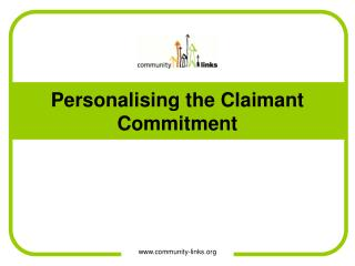 Personalising the Claimant Commitment