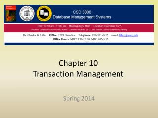 Chapter 10 Transaction Management