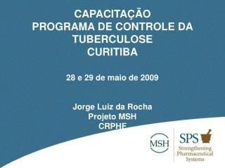 CAPACITAÇÃO  PROGRAMA DE CONTROLE DA TUBERCULOSE CURITIBA