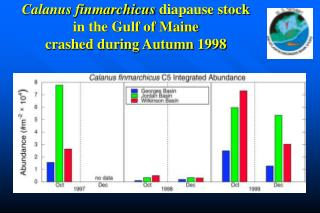 Calanus finmarchicus  diapause stock  in the Gulf of Maine  crashed during Autumn 1998