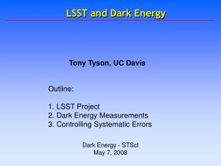 LSST and Dark Energy