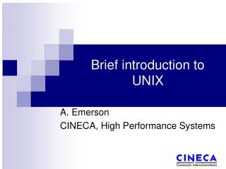 Brief introduction to UNIX