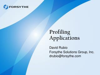 Profiling Applications