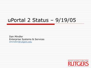 uPortal 2 Status – 9/19/05
