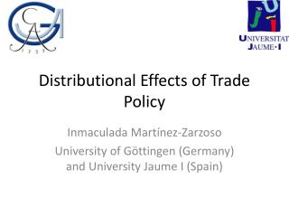 Distributional Effects of Trade Policy
