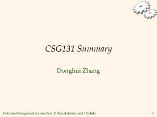 CSG131 Summary
