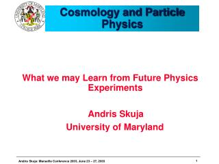 Cosmology and Particle Physics