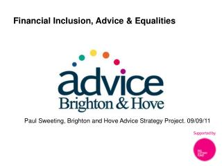 Financial Inclusion, Advice & Equalities