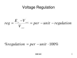 Voltage Regulation
