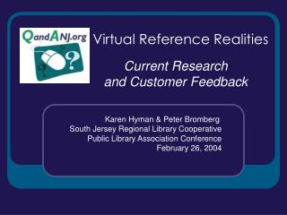Virtual Reference Realities