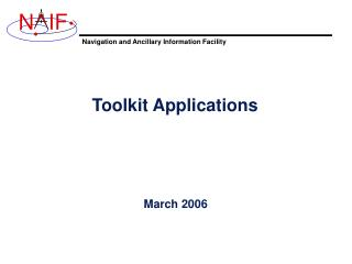 Toolkit Applications
