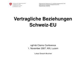 Vertragliche Beziehungen Schweiz-EU