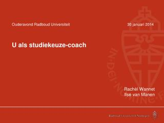 Ouderavond Radboud Universiteit30 januari 2014