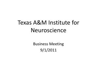 Texas A&M Institute for Neuroscience