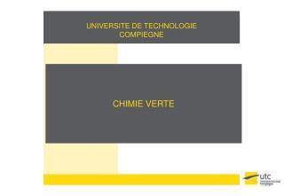 CHIMIE VERTE