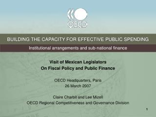 BUILDING THE CAPACITY FOR EFFECTIVE PUBLIC SPENDING