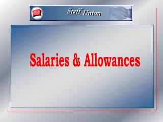 Salaries & Allowances