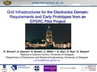 Grid Infrastructures for the Electronics Domain: