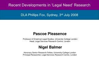 DLA Phillips Fox, Sydney, 3 rd  July 2008