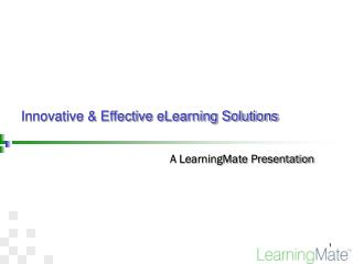 Innovative & Effective eLearning Solutions