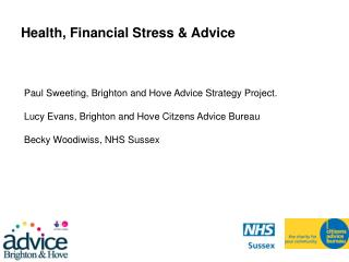 Health, Financial Stress & Advice