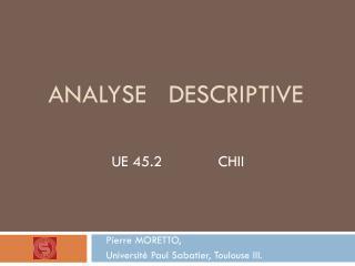 Analyse   Descriptive