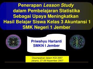 Penerapan  Lesson Study dalam Pembelajaran Statistika Sebagai Upaya Meningkatkan