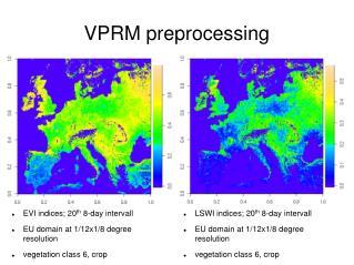 VPRM preprocessing