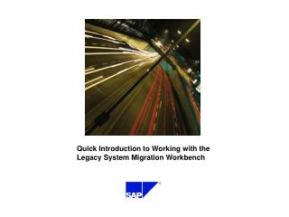 Quick Introduction to Working with the Legacy System Migration Workbench