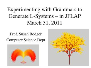 Experimenting with Grammars to Generate L-Systems – in JFLAP March 31, 2011