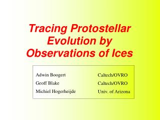 Tracing Protostellar Evolution by Observations of Ices