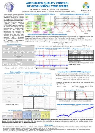 Automated quality control  of geophysical time series