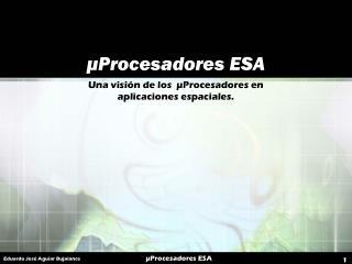 µProcesadores ESA