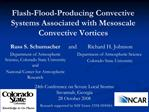 Flash-Flood-Producing Convective Systems Associated with Mesoscale Convective Vortices