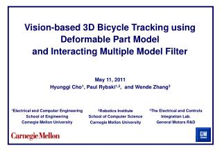 Vision-based 3D Bicycle Tracking using Deformable Part Model