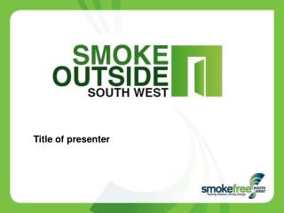 Title of presenter