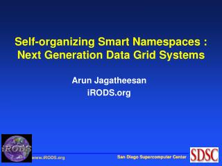 Self-organizing Smart Namespaces :  Next Generation Data Grid Systems