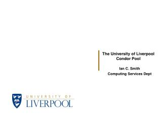 Ian C. Smith Computing Services Dept