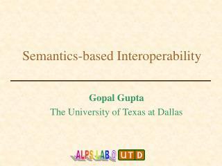 Semantics-based Interoperability