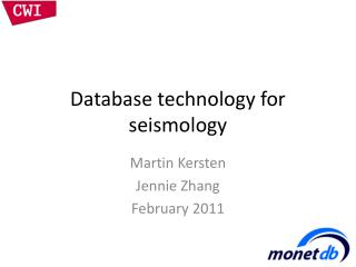 Database technology for seismology