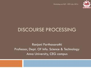 Discourse Processing