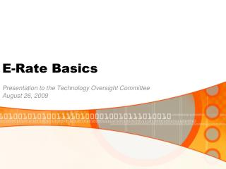 E-Rate Basics