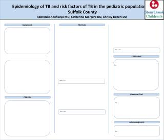 Epidemiology of TB and risk factors of TB in the pediatric population  in Suffolk County