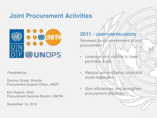 Joint Procurement Activities