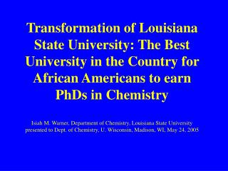 African American Chemists